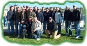 Larger Florida bass fishing group
